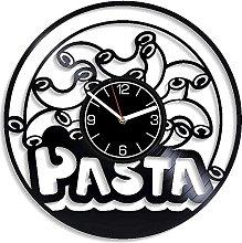 ZZLLL Pasta vinyl record wall clock kitchen