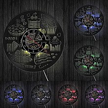 ZZLLL Sweets Design Vinyl Record Wall Clock Modern