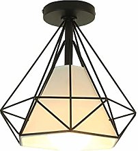 ZZM Diamond Wire Lampshade Ceiling, Industrial