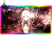 ZZMMUW Gaming Mouse Pads Anime Guilty Crown RGB