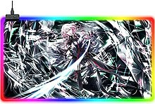 ZZMMUW Gaming Mouse Pads RGB Large Gaming Mouse
