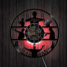 ZZNN Record wall clock Silhouette Art Wall Clock