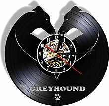ZZNN Vinyl record wall clock Greyhound Dog Breed