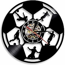 ZZNN Vinyl record wall clock Soccer Football Ball