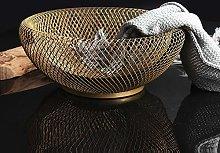 ZZPACE Large Metal Mesh Creative Fruit Bowl,bread