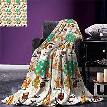 ZZPHH Baby Weave Pattern Extra Long Blanket Cute