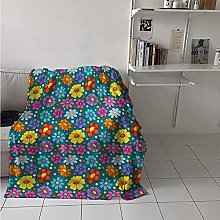 ZZPHH Kids Digital Printing Blanket Flowering