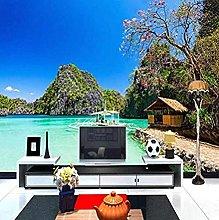 ZZXIAO 3D Photo Wallpaper Next to The Sea Beach