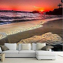 ZZXIAO Wallpaper Wall 3D Beautiful Romantic Sunset