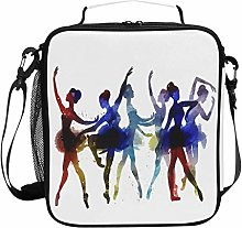 ZZXXB Ballet Dancer Insulated Lunch Bag Box