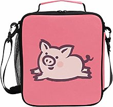 ZZXXB Flying Pig Insulated Lunch Bag Box Reusable