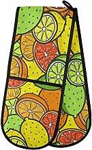 ZZXXB Lemon Orange Fruit Double Oven Mitt Heat