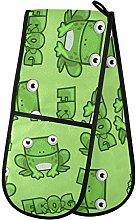 ZZXXB Lovely Frog Double Oven Mitt Heat Resistant