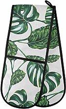ZZXXB Palm Leaf Double Oven Mitt Heat Resistant