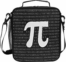 ZZXXB Pi Number Math Science Insulated Lunch Bag