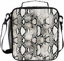 ZZXXB Snake Skin Print Insulated Lunch Bag Box