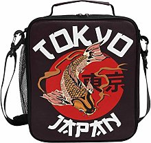 ZZXXB Tokyo Koi Fish Insulated Lunch Bag Box