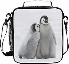 ZZXXB Walking Penguin Insulated Lunch Bag Box