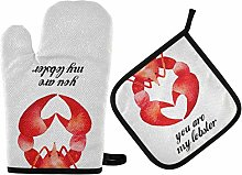 ZZXXB You are My Lobster Oven Mitts and Pot