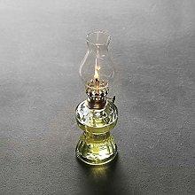 ZZYJYALG Retro Glass Kerosene Lamp, Glass Lamp