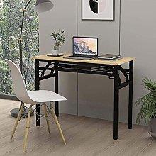 ZZYLHS Folding Computer Desk, Home Office Desk,