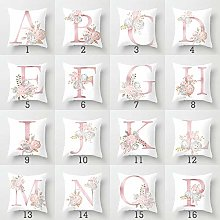 Zzyx Cushion Cover Pink Letter Peach Skin