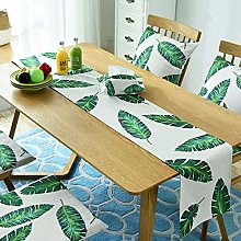 Zzyx Table Runner Dining Table Mat Plant Leaf