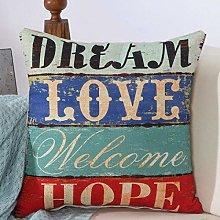 zzzddd Cushion Covers,1Pcs Love Home Pattern