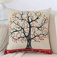 zzzddd Cushion Covers,Black Red Tree Pattern