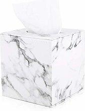 zzzddd Napkin Box,Marble Cube Square Tissue Box Pu
