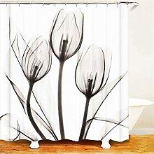 ZZZdz Art. Grey Tulip Flower. Shower Curtain: 180