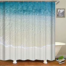 ZZZdz Blue Lake Beach. Shower Curtain: 180 X 180