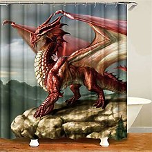 ZZZdz Dinosaur With Wings Open. Shower Curtain: