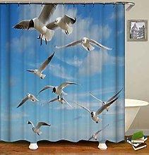 ZZZdz Flying Seagulls. Shower Curtain: 180 X 180