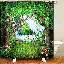 ZZZdz Forest Grass Mushroom. Shower Curtain: 180 X