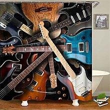 ZZZdz Guitars. Shower Curtain: 180 X 180 Cm.