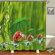 ZZZdz Ladybug With An Umbrella. Shower Curtain: