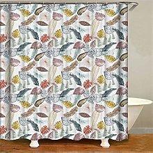 ZZZdz Leaves Shower Curtain: 180 X 180 Cm. Shower