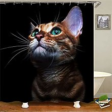 ZZZdz Longing For Free Cats. Shower Curtain: 180 X