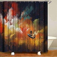 ZZZdz Longing For The Stars. Shower Curtain: 180 X