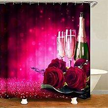 ZZZdz Romance. Rose Champagne. Shower Curtain: 180