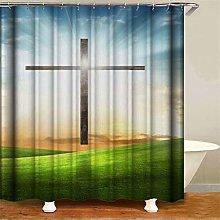 ZZZdz Sunlight Crosses The Grass. Shower Curtain: