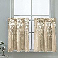 ZZZGY Window curtain, bistro curtain, handmade